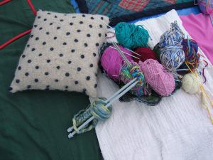 Knitting - wool and needles