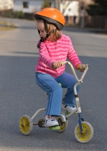 Child on Bicycle with upright posture