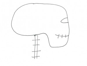 Drawing of Head Neck Balance for correct posture