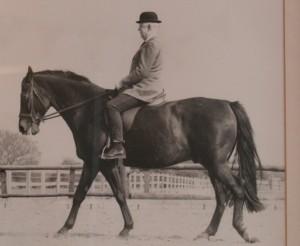 Walter Carrington riding a horse