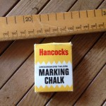 marking chalk and wooden ruler