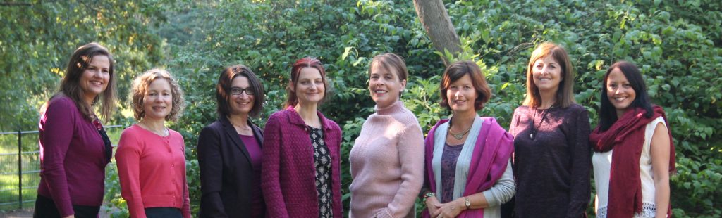 photo in park of NEST London team- practitioners specialising in pregnancy